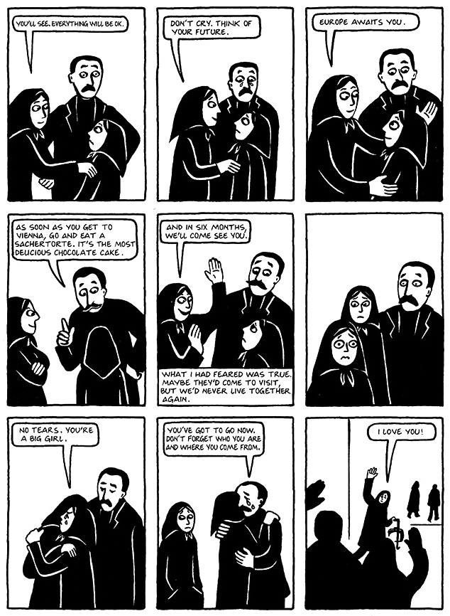 Read Chapter 19 - The Dowry, page 150, from Marjane Satrapi's Persepolis 1 - The Story of a Childhood