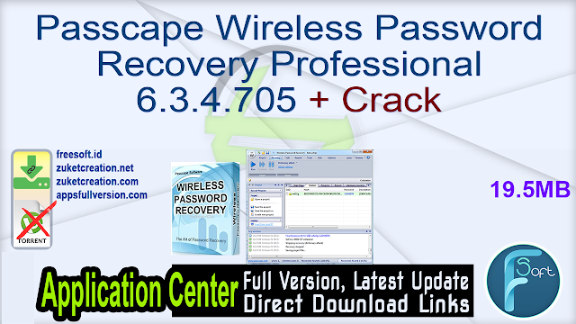 Passcape Wireless Password Recovery Professional 6.3.4.705 + Crack
