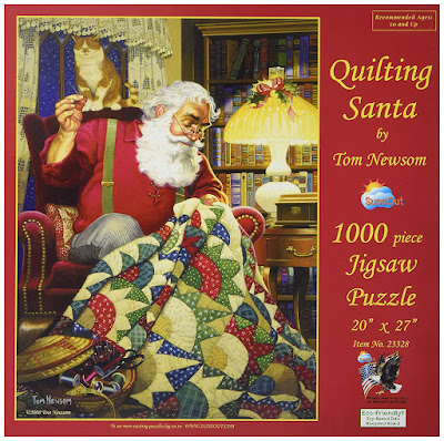 SunsOut Quilting Santa Jigsaw Puzzle
