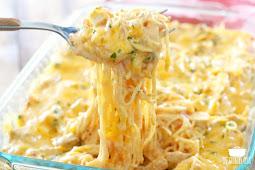 Creamy Cheesy Chicken Spaghetti #dinnerrecipe #food