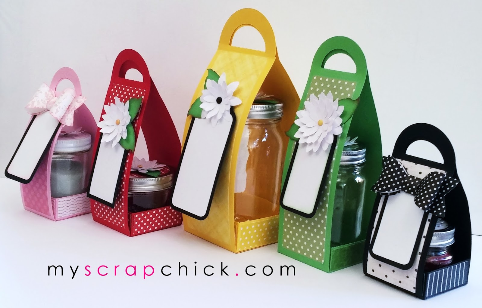 Tutorial For Jam Jar And Candle Gift Wraps Myscrapchick