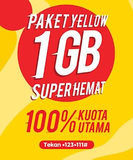 Cara Daftar Paket Yellow 1Gb Lewat SMS