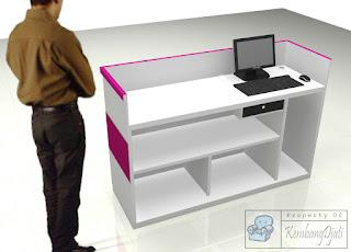 Meja Kasir Desain Terbaru 2021 - Furniture Semarang