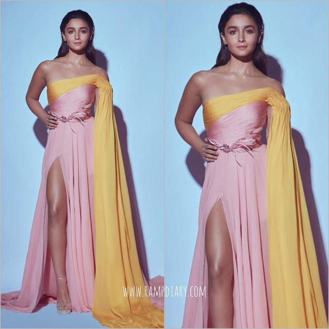 Alia Bhatt Wears Georges Hobeika for Filmfare 2020