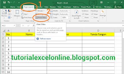 Cara Membuat Baris Pertama Tabel Otomatis Jadi Judul Header di Tiap Halaman Excel Saat Dicetak /print