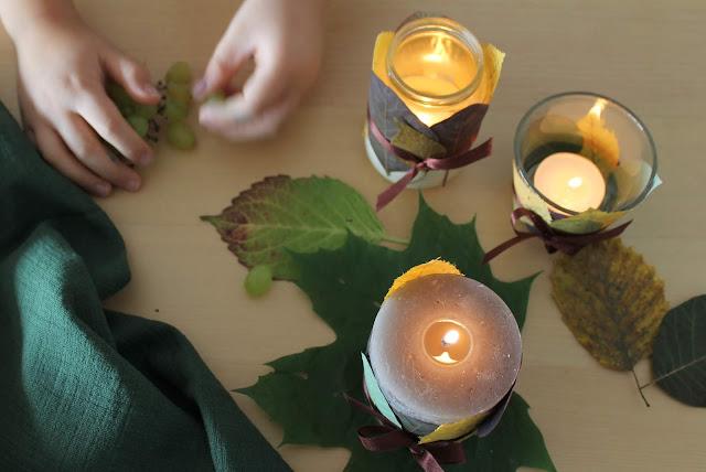 DIY Blaetterlaterne Herbstlichter Basteln Jules kleines Freudenhaus