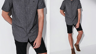 Wear dress shirt and shorts, Short sleeve shirt