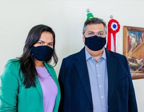 Deputada Ana do Gás se reúne com o governador Flávio Dino para tratar de políticas públicas em prol das mulheres
