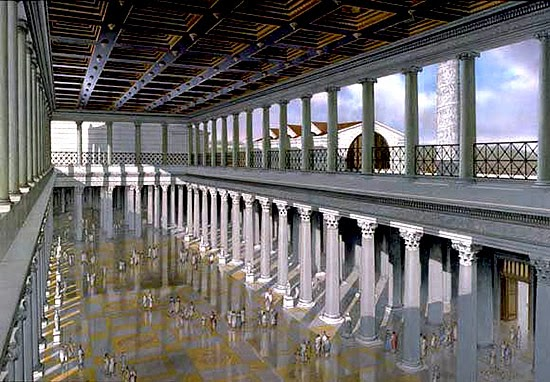 La basilica romana for Planimetrie architettoniche