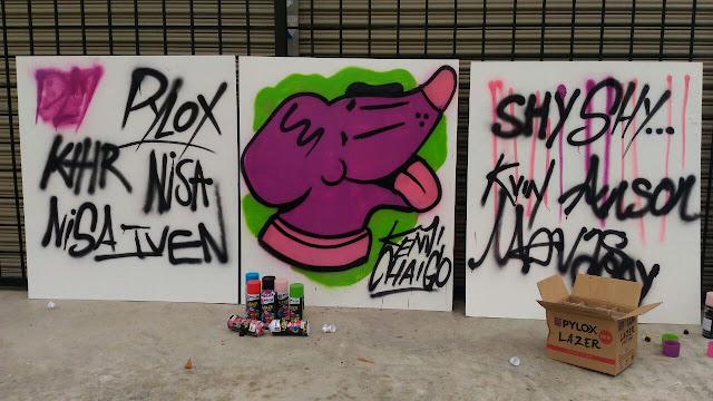Mural, Kenji Chai, Grafiti, Pylox,
