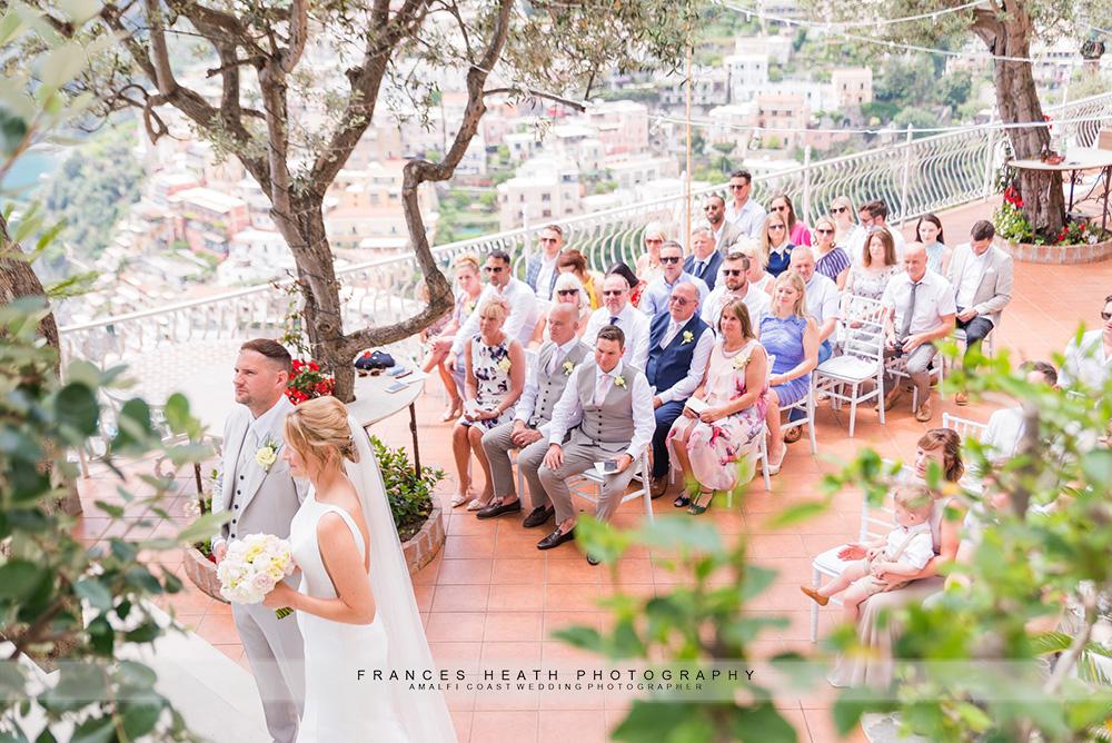 Villa Oliviero wedding ceremony