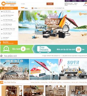 Giao diện Web bán hàng Nội thất đẹp - Theme Blogspot Hàng nội thất - Blogspotdep.com