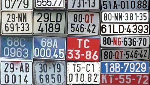 Biển số xe các tỉnh ở Việt Nam