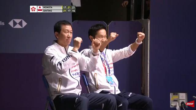 Reaksi pelatih Jepang. Foto BWFWordTV