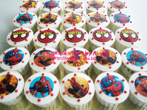Birthday Cupcake Edible Image Spiderman