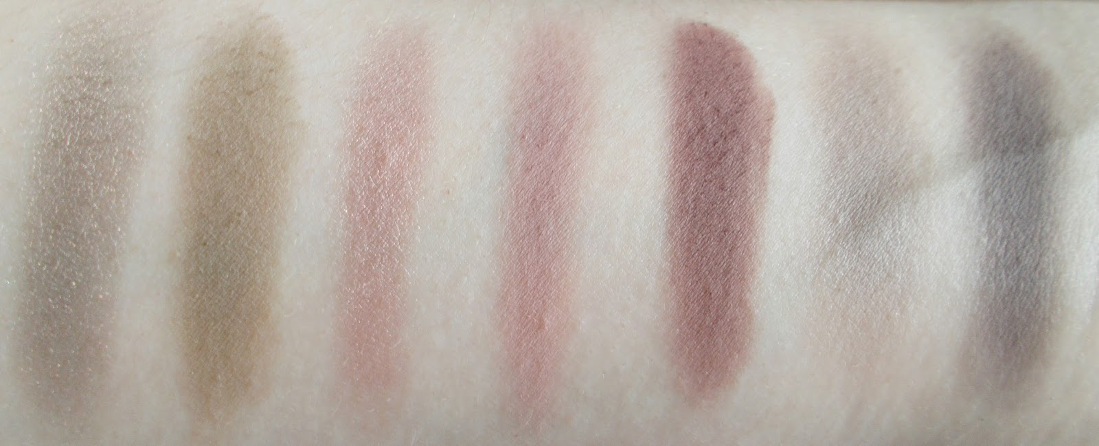 row 4 makeup geek eyeshadow swatches moondust high tea twilight unexpected vintage bedrock concrete jungle