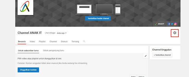 cara merubah dan mengedit nama channel youtube