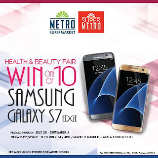 The Metro Stores: Health and Beauty Fair Win Samsung Galaxy S7 Edge