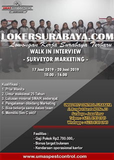 Walk In Interview di Umas Pest Control Surabaya Terbaru Juni 2019