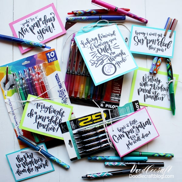 Back-to-School Pen Puns Gifts with Pilot Pens!