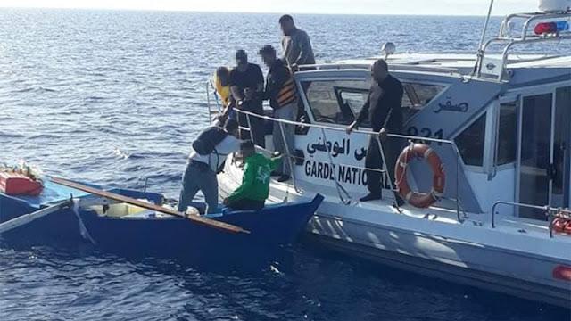 المهدية : إنقاذ 4 شبان من الغرق بعد تعطب مركب '' حرقة ''