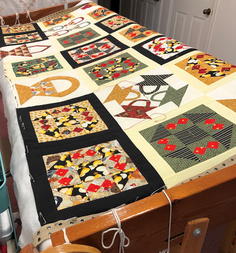 Quilt in the frames