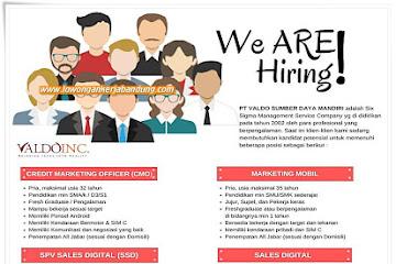 Lowongan Kerja Bandung Karyawan Valdo Inc