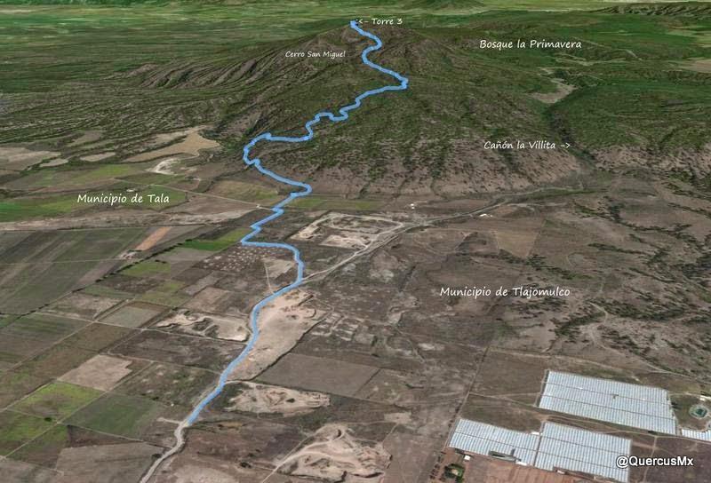 Ruta de ascenso al Cerro San Miguel en el Bosque La Primavera