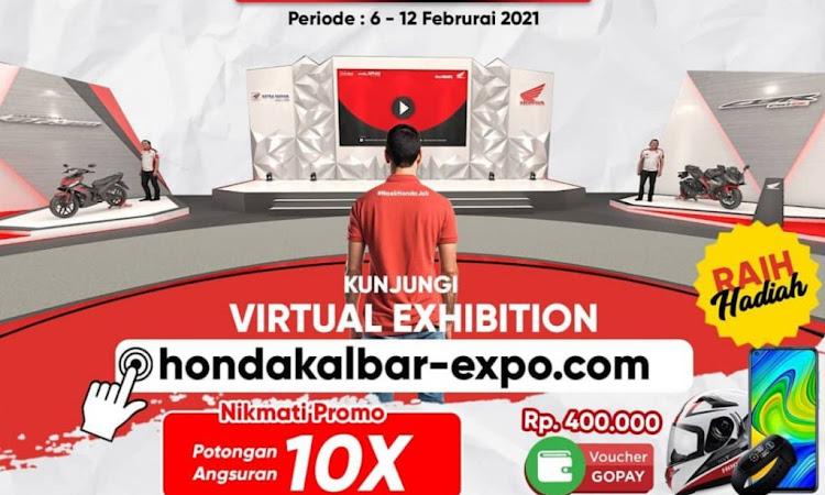 Tak Perlu Tatap Muka Bisa Beli Motor Honda Baru di Virtual Exhibition Astra Motor Kalbar