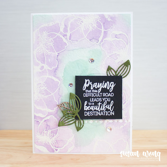 Beautiful Promenade by Stampin' Up! - watercolour card by Susan Wong for the Fancy Friday Blog Hop