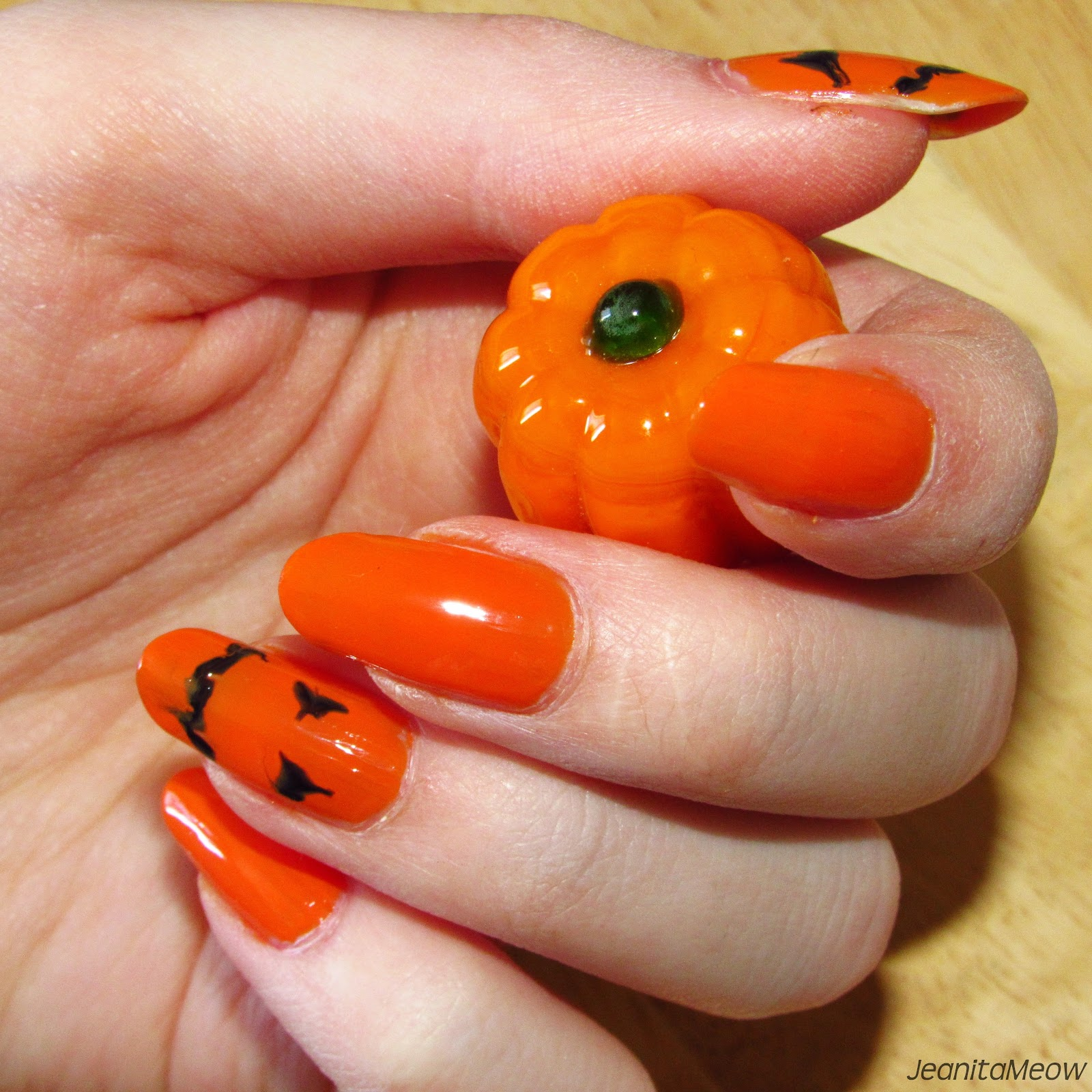 JeanitaMeow | Nails, Beauty, Food & More: Drag Marble Jack-O-Lantern ...