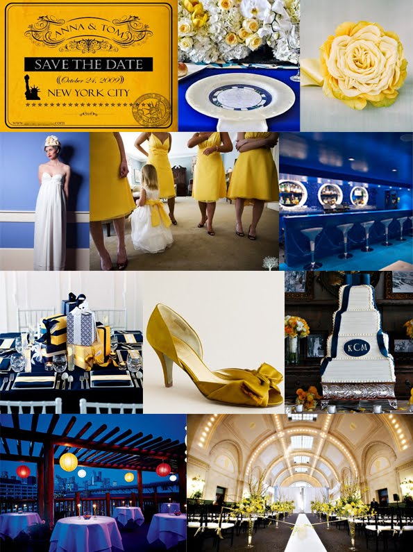 The Fine Living Muse Blue And Yellow New England Style Wedding Or