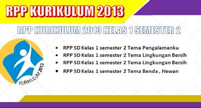 RPP K13 SD Kelas 1 Semester 2 untuk Tahun 2018