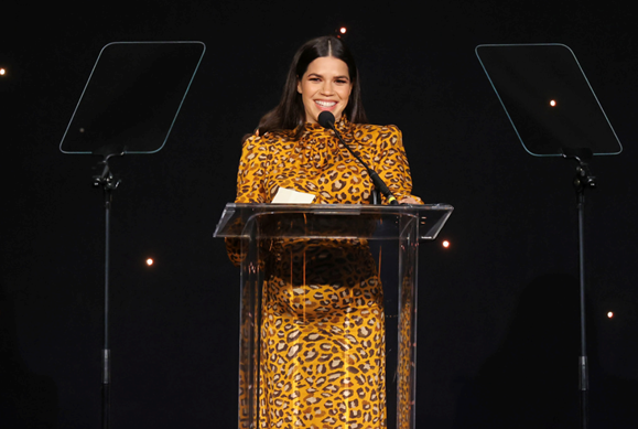America Ferrera honored at the 2020 Impact Awards Photos: Getty Images for National Hispanic Media Coalition