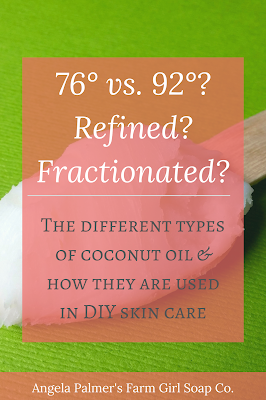 What are the different types of coconut oil and how are they used in DIY skin care? Learn which coconut oil types are the best for your handmade skin care products.