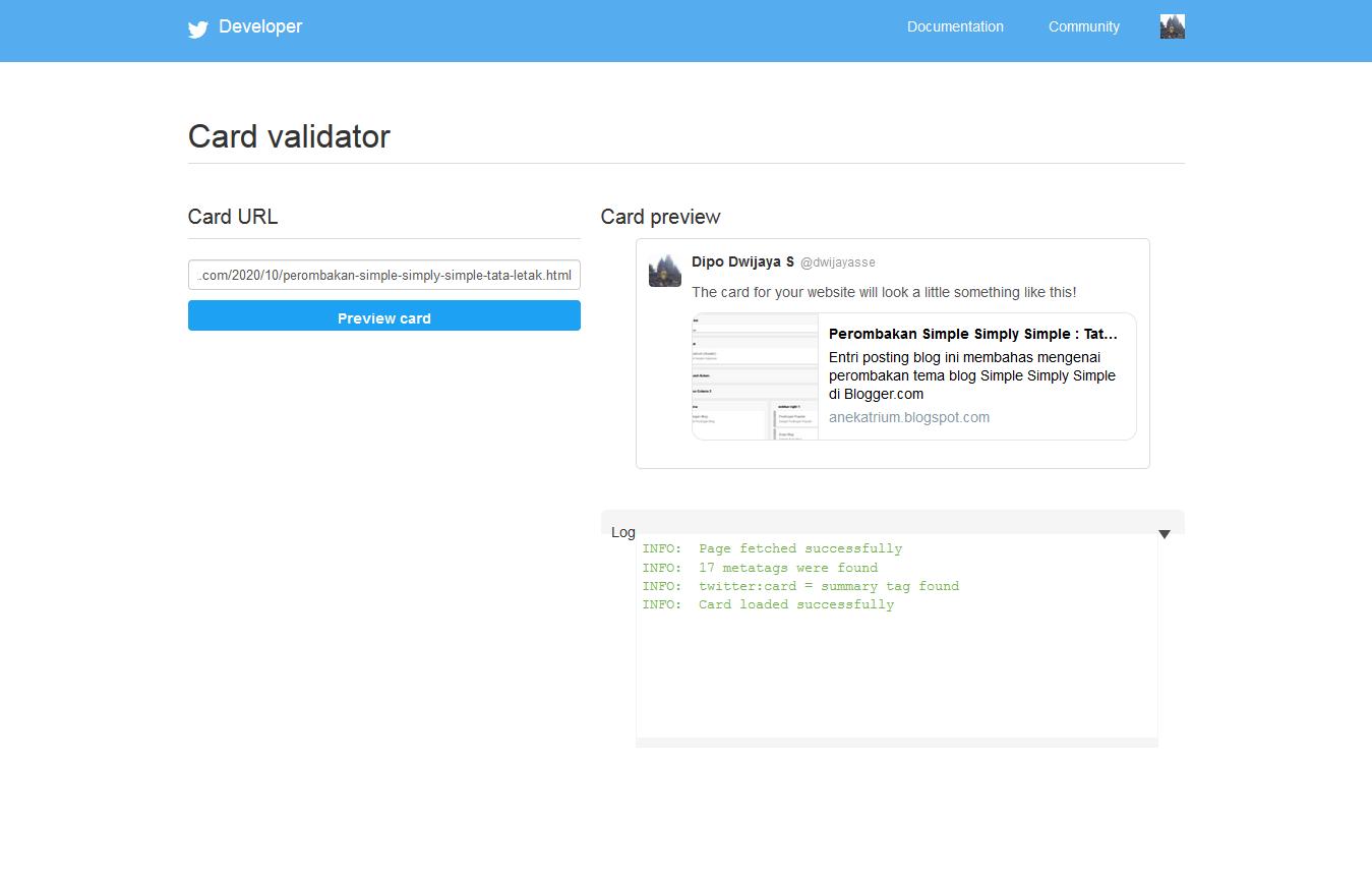Twitter : Card Validator