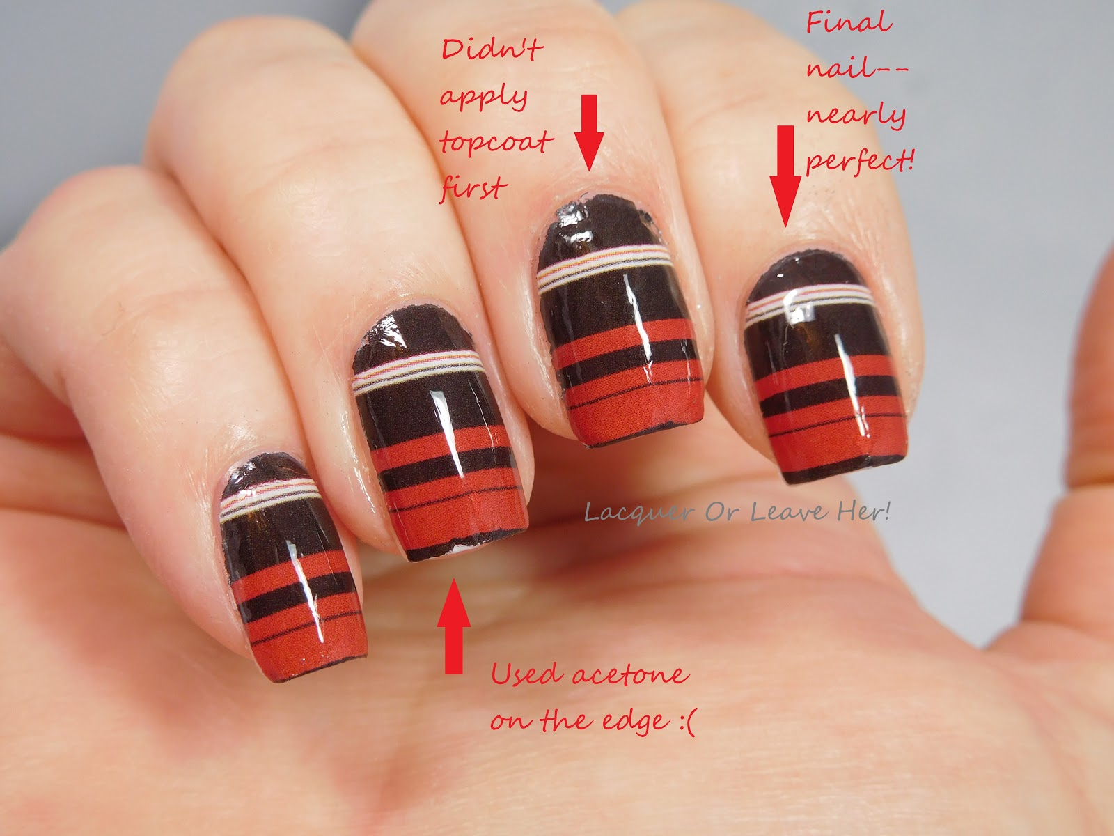 Lacquer Or Leave Her Review Tutorial Water Decal Nail Wraps From Charlie S Nail Art