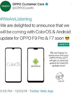 upgrade pie oppo f9