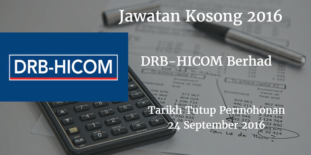 Jawatan Kosong DRB-HICOM Berhad 24 September 2016