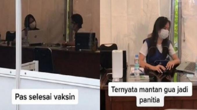 Viral, Seorang Pria Ikut Vaksinasi Covid-19 Ternyata Dilayani Mantan Pacar. Endingnya Bikin Nyesek Banget!