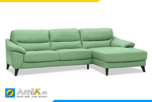 Ghế sofa da kiểu góc chữ L