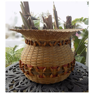 Lg. Basket with Curl Decorations Natural Light-PYH