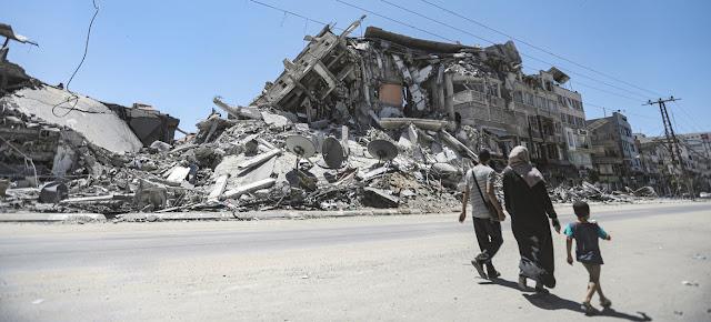 Edificio dañado por un bombardeo israelí en GazaUNRWA/Mohamed Hinnawi