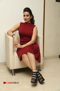 Telugu Tollywood Anchor Manjusha Pos in Red Short Dress  0120.JPG