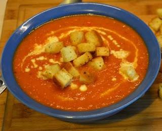 bezglutenowy krem z pomidorów