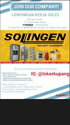 Lowongan Kerja PT Central Mega Perdana (Sollingen Cabang Kupang) Sebagai Sales