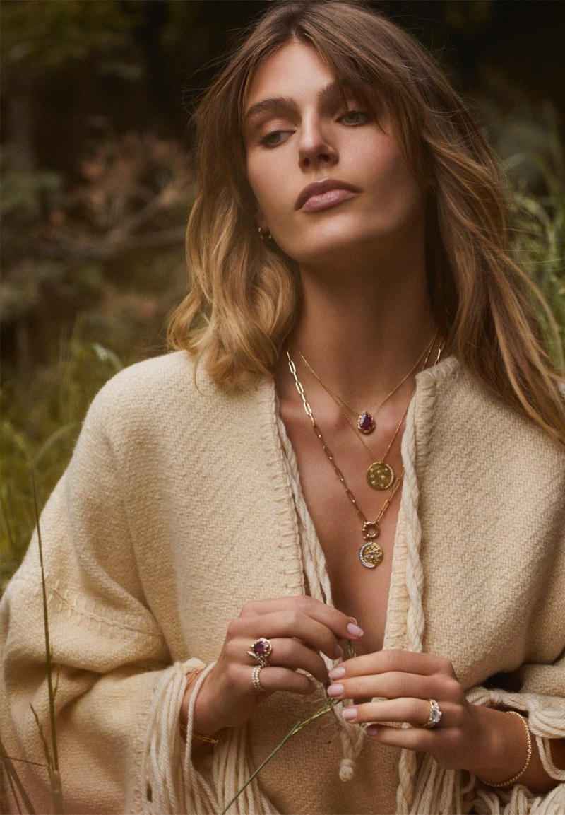 Madison Headrick poses for Logan Hollowell Jewelry