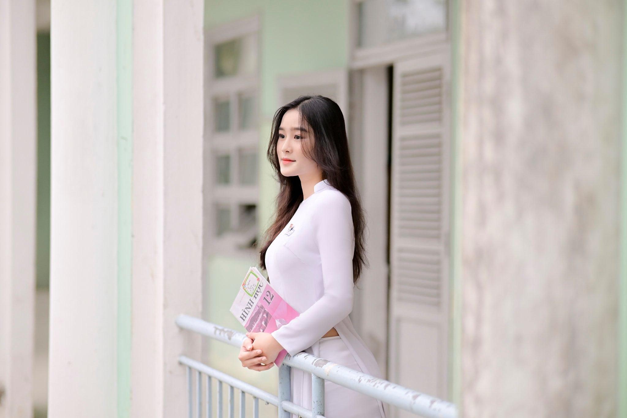 Tuyển tập girl xinh gái đẹp Việt Nam mặc áo dài đẹp mê hồn #57 - 14