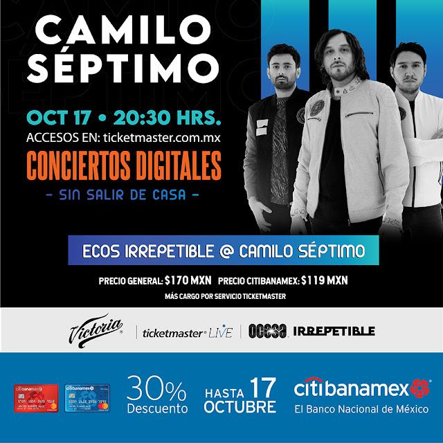 """Camilo Sptimo presentará """"Ecos"""" vía streaming en un show """"Irrepetible"""""""