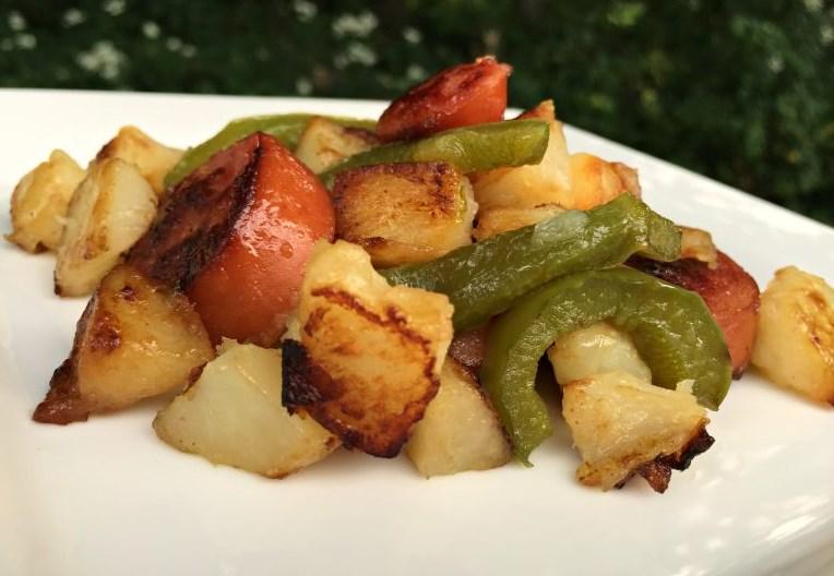 Kielbasa and Potato Skillet #cheap #dinner